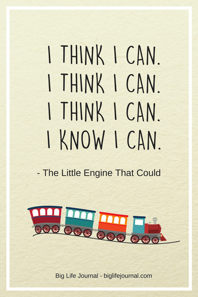 """The Little Engine That Could"" poem which teaches resilience and grit to children."