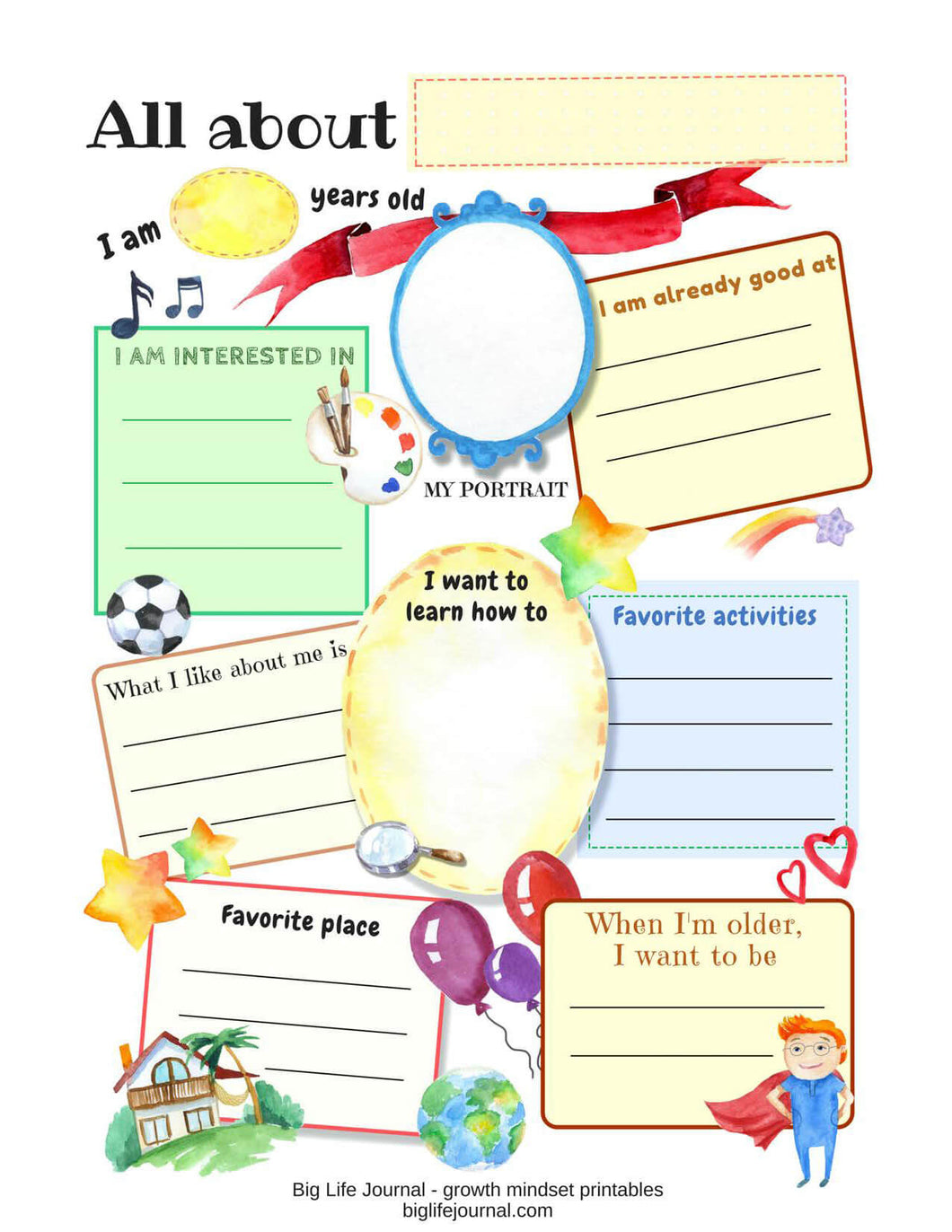 Workbooks all about me workbook : Growth Mindset Printable Worksheets and Handouts (PDF) – Big Life ...