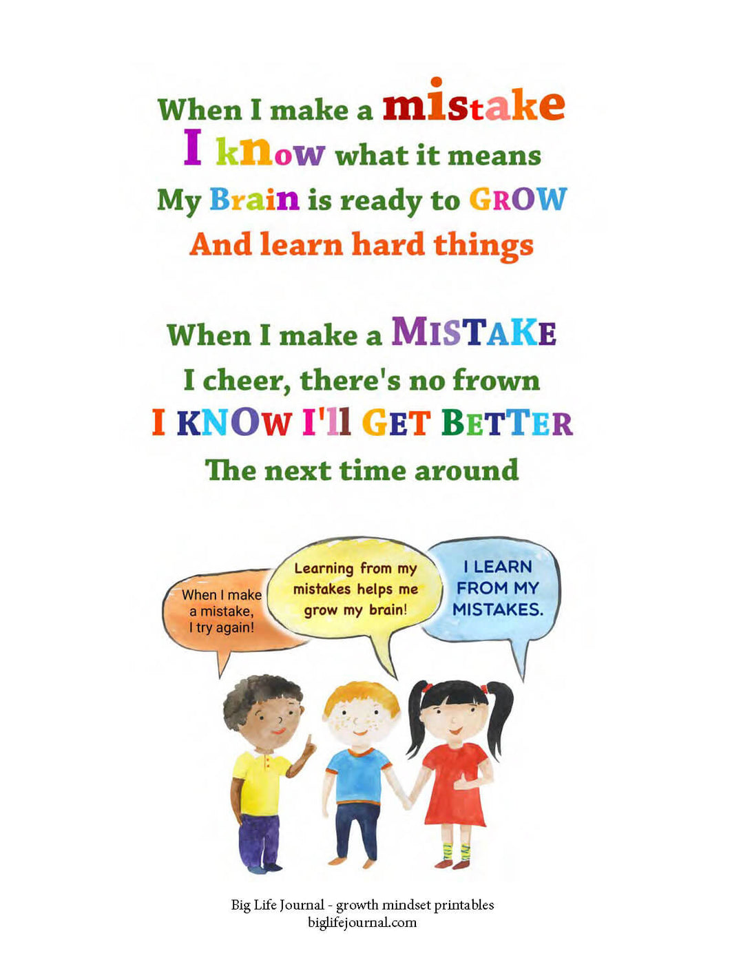 Workbooks life skills worksheets pdf : Growth Mindset Printable Worksheets and Handouts (PDF) – Big Life ...