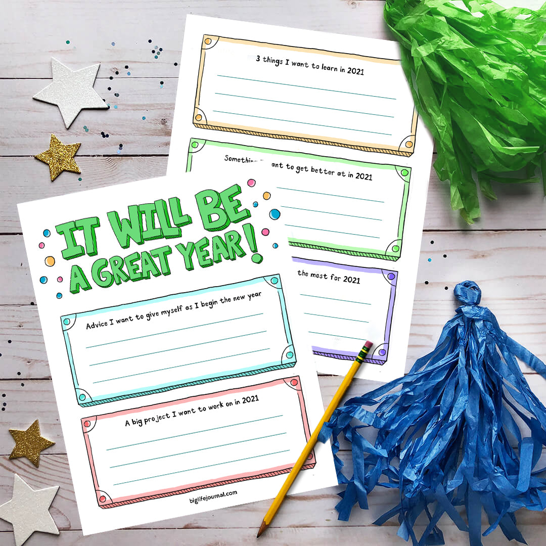 2021 New Year Kit PDF (ages 11+) - Big Life Journal