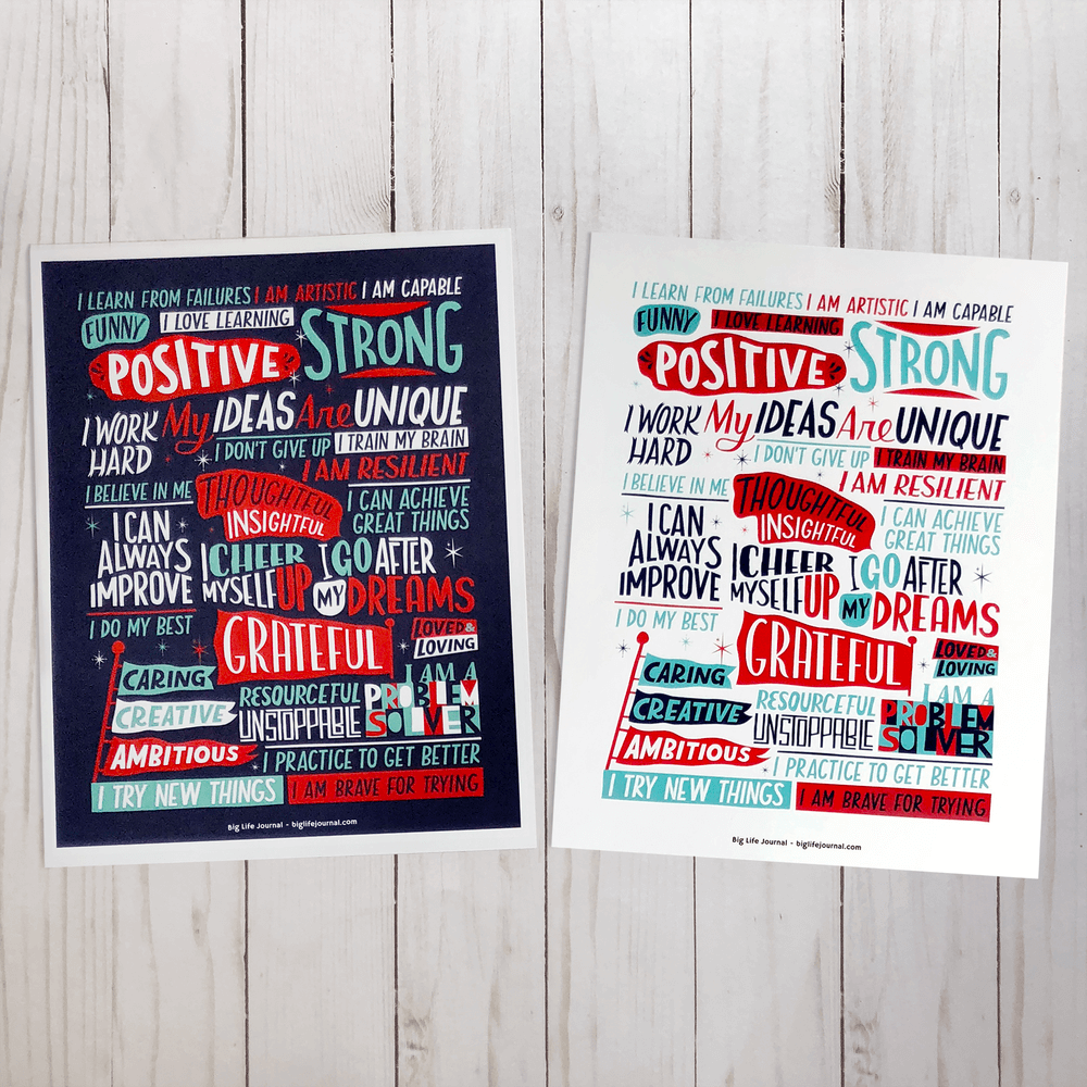 Positive Affirmations Poster For Kids And Teens (PDF