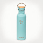 27oz (800 ml) Earthwell® Woodie™  Bottle w/ Maple Cap - Aqua Blue