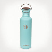 27oz (800 ml) Earthwell® Woodie™  Bottle w/ Walnut Cap - Aqua Blue
