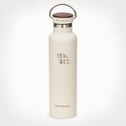 22oz (650 ml) Earthwell® Woodie™ Vacuum Bottle w/ Walnut Cap - Baja Sand