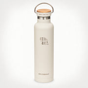 22oz (650 ml) Earthwell® Woodie™ Vacuum Bottle w/ Maple Cap - Baja Sand