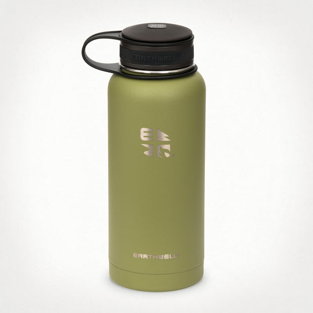 32 oz (.95L) Earthwell® Kewler™ Wide Mouth Vacuum Insulated Bottle - Sequoia Pine