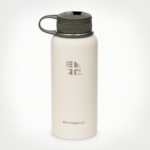 32 oz (.95L) Earthwell® Kewler™ Opener Vacuum Insulated Bottle - Baja Sand