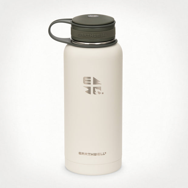 32 oz (.95L) Earthwell® Kewler™ Wide Mouth Vacuum Insulated Bottle - Baja Sand