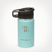 12oz (355 ml) Earthwell® Roaster™ Loop Vacuum Insulated Bottle - Aqua Blue