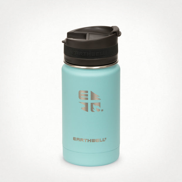 12oz (355 ml) Earthwell® Roaster™ Vacuum Insulated Bottle - Aqua Blue