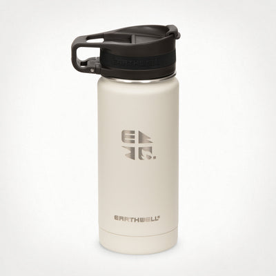 16oz (473 ml) Earthwell® Roaster™ Loop Vacuum Insulated Bottle - Baja Sand