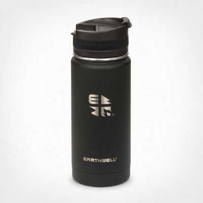 16oz (473 ml) Earthwell® Roaster™ Vacuum Insulated Bottle - Volcanic Black