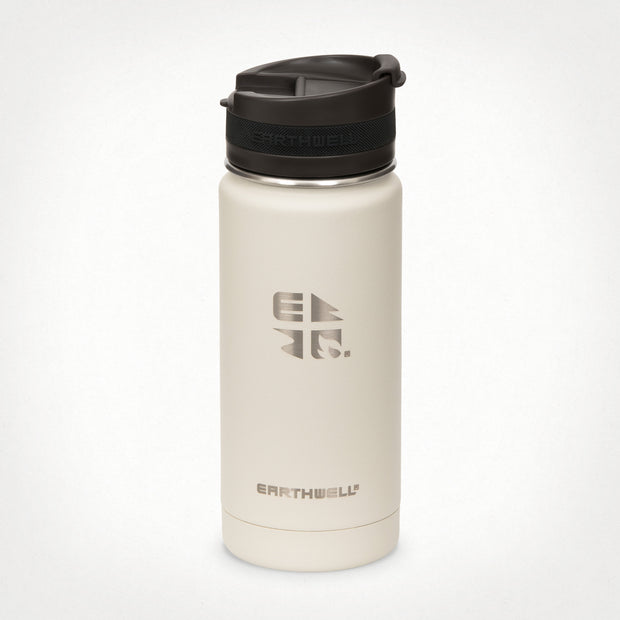 16oz (473 ml) Earthwell® Roaster™ Vacuum Insulated Bottle - Baja Sand