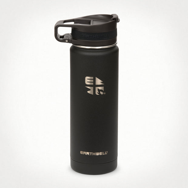 20oz (592 ml) Earthwell® Roaster™ Loop Vacuum Insulated Bottle - Volcanic Black