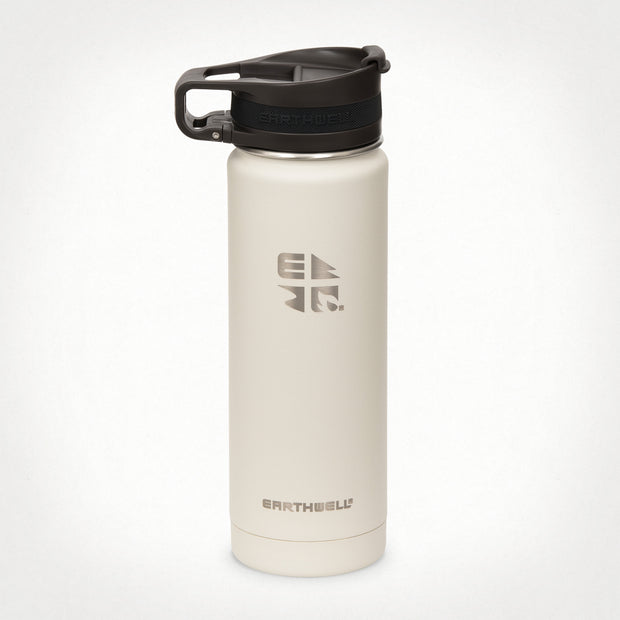20oz (592 ml) Earthwell® Roaster™ Loop Vacuum Insulated Bottle - Baja Sand