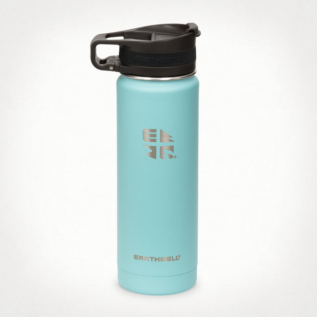 20oz (592 ml) Earthwell® Roaster™ Loop Vacuum Insulated Bottle - Aqua Blue