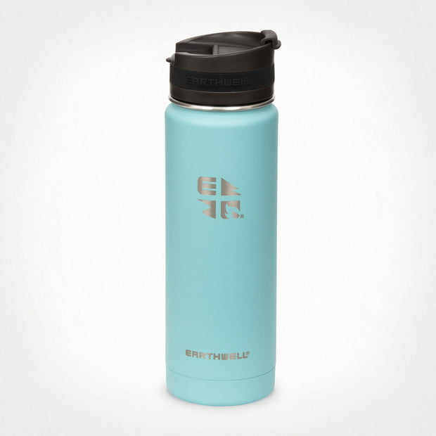 20oz (592 ml) Earthwell® Roaster™ Vacuum Insulated Bottle - Aqua Blue