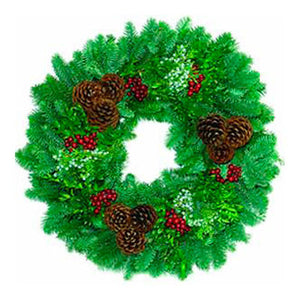 "Forest Elegance Extra Fancy Gift Boxed 26"" Wreath"
