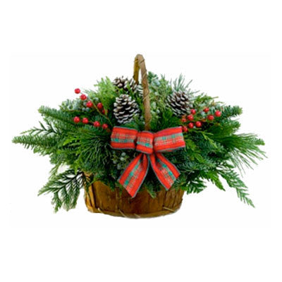 Noble Fir Bark Basket 10x13