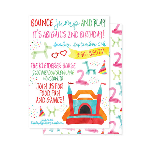 Bounce House Party Invitation
