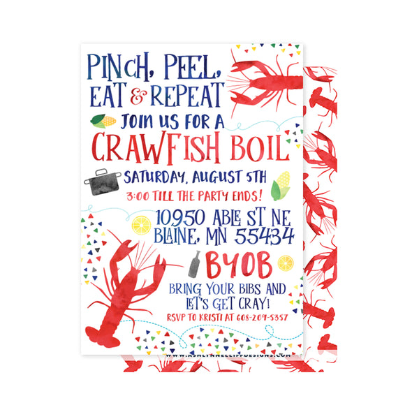 Crawfish Boil Party Invitation