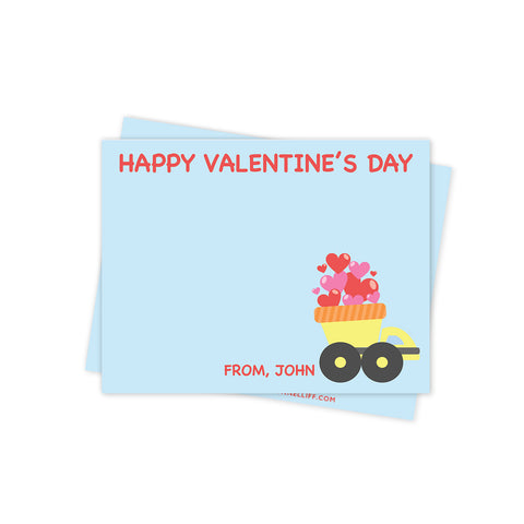 Dump Truck Valentines Day Stationery