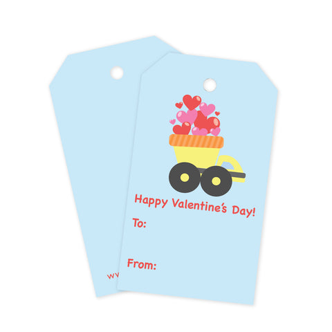 Dump Truck Valentine Gift Tags