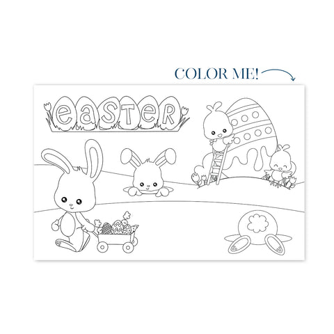 Easter Coloring No. 1 Party Placemat