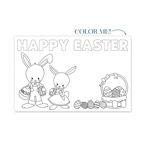 Copy of Easter Coloring No. 2 Party Placemat