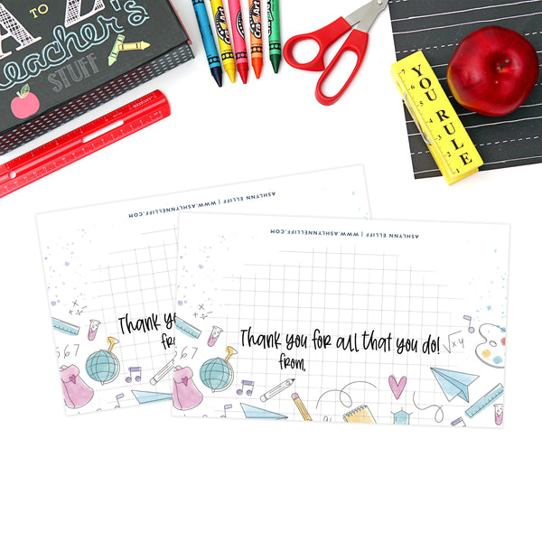Printable (Instant Download) Graph Teacher Appreciation Goodie Bag Toppers