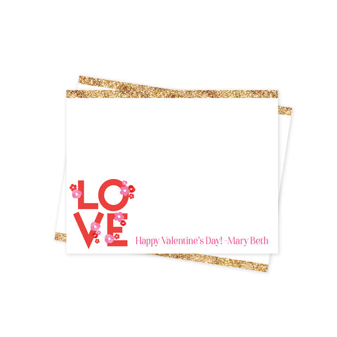Love & Glitter Valentines Day Stationery