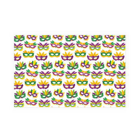 Mardi Gras Masks Party Placemat