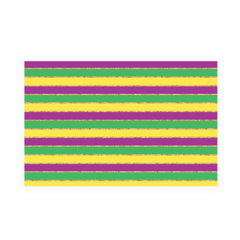 Mardi Gras Stripes Party Placemat