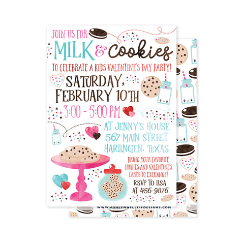 Milk & Cookies Party Invitation