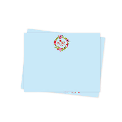 Monogram Floral Valentines Day Stationery