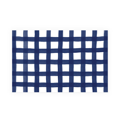 Navy Gingham Party Placemat