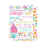 Rainbows & Unicorns Party Invitation