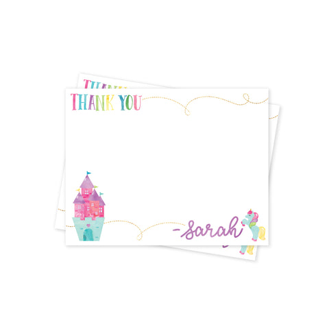 Rainbows & Unicorns Thank You Notes