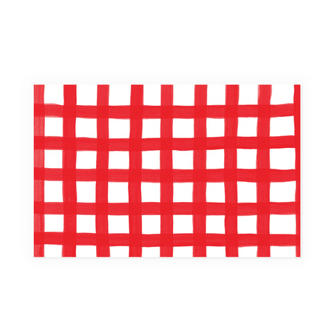 Red Gingham Party Placemat