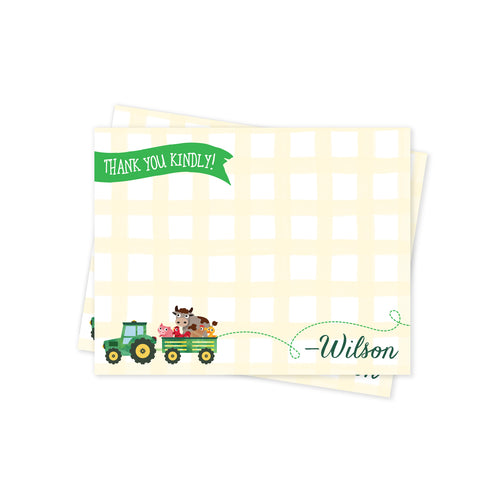 E-I-E-I-One! Party Thank You Notes