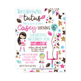 Touchdowns & Tutus Party Invitation