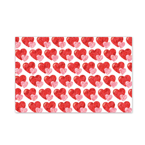 Watercolor Hearts Party Placemat