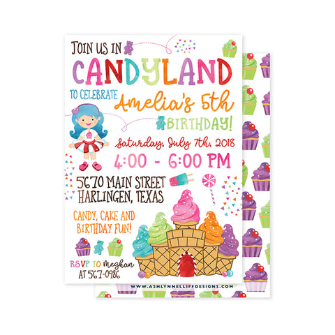 Candy land Party Invitation