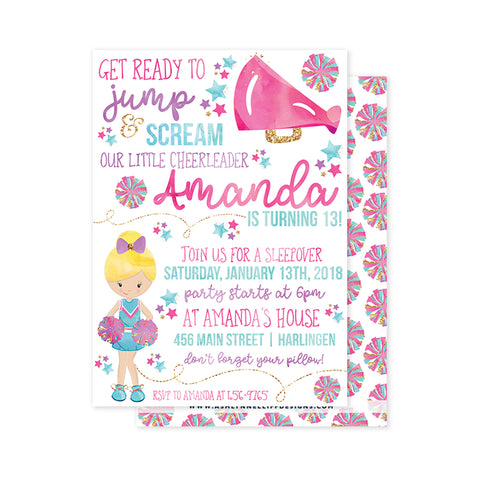 Cheerleader Party Invitation