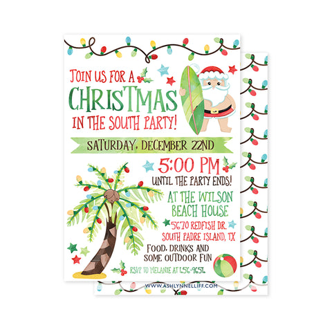 Christmas in the South Party Invitation