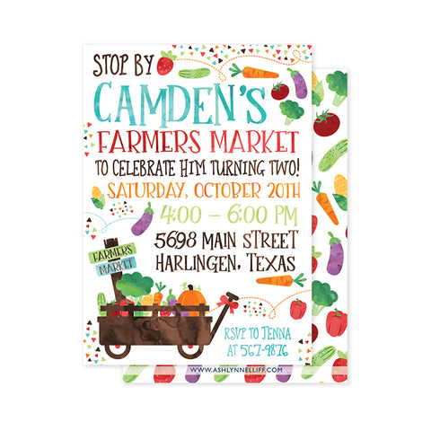Farmers Market #2 Party Invitation
