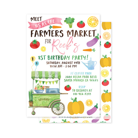 Farmers Market #1 Party Invitation