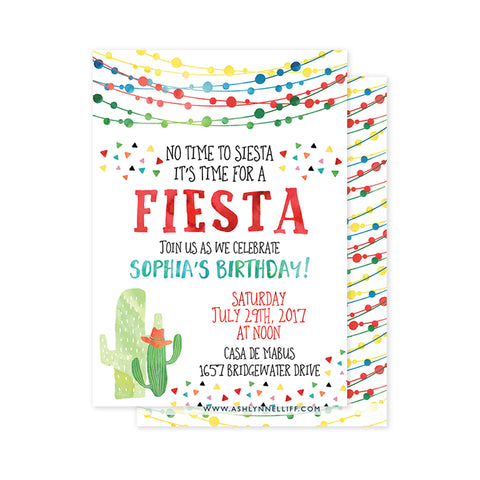 Fiesta Party Invitation