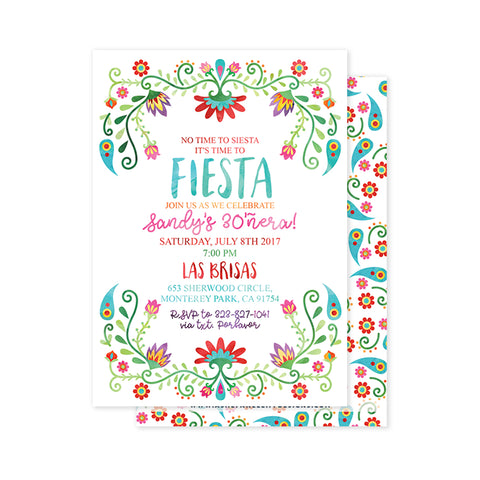 Floral Fiesta Party Invitation