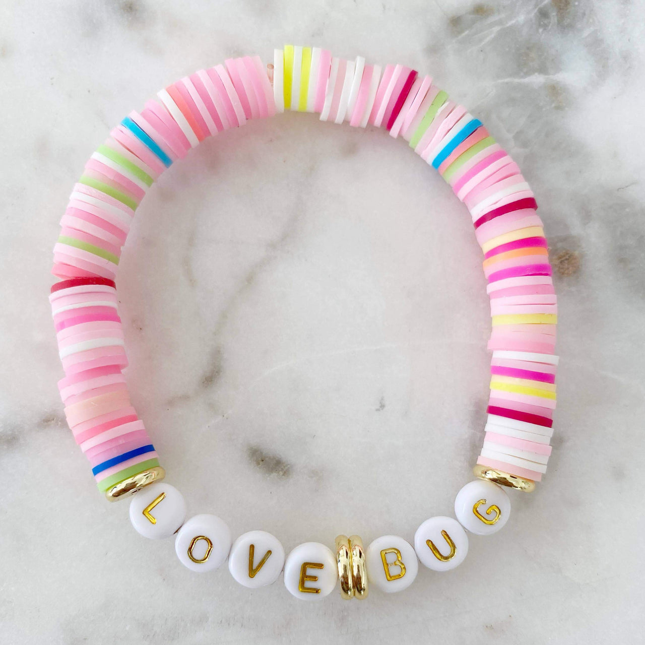 "Mod Miss Jewelry - ""Love Bug"" Color Pop Bracelet"